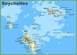 Marin Map Seychelles Islands Map