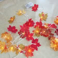 maple leaf garland with lights aliexpress com buy novelty maple leaf fairy garland led light 5m