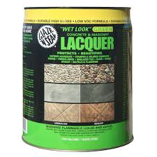 Flo Coat Resurfacer by Glaze U0027n Seal 5 Gal Clear Wet Look Green Concrete And Masonry