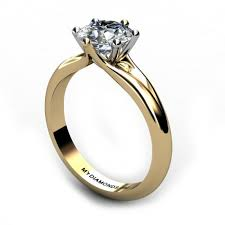 gold diamond rings delfina yellow gold solitaire diamond engagement ring