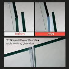 shower glass door seal huaha frameless flexible shower door seal sweep for 3 8