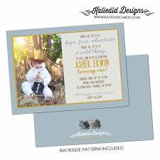 Birthday Invitation Card For Baby Boy Where The Wild Things Are Invitations Birthday Baby Boy Shower