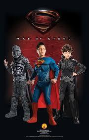 amazon com man of steel deluxe superman children u0027s costume