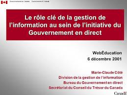 bureau gouvernement du canada gouvernement du canadagovernment of canada le rôle clé de la gestion