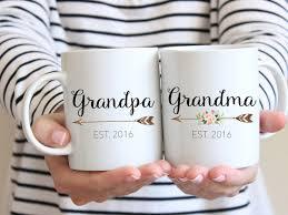 gift for grandparents mug set couples mug grandma mug