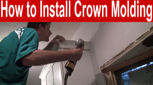 how to install kitchen cabinet crown molding and trim with tips
