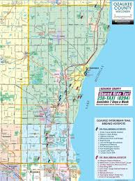 Zip Code Map Wisconsin ozaukee county interurban trail map ozaukee county wi us u2022 mappery