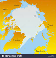 Map Of Alaska And Russia by Abstract Vector Color Map Of North Pole Stock Photo Royalty Free