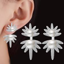 top earing earring stud top quality the new ear jewelry for women white pearl