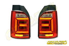 vw led tail lights vw t6 7e0 oem cherry red led tail lights 7e0945208 7e0945207