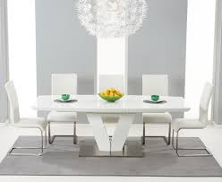 white high gloss table buy the malaga 180cm white high gloss extending dining table with