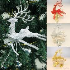 home christmas tree ornament deer chital hanging xmas baubles