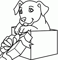 christmas coloring pages dog coloring