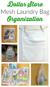 Organizing Store Dollar Store Ganization Mesh Laundry Bag Organization Ideas