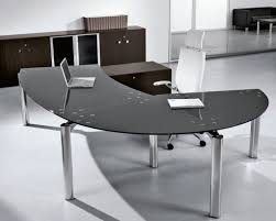 furniture charming desks home office black glass office desk with