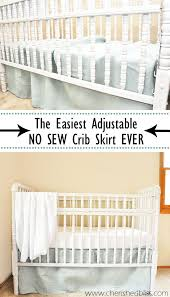 Crib Bed Skirt Diy The Easiest Diy Crib Skirt Tutorial Crib Skirt Tutorial