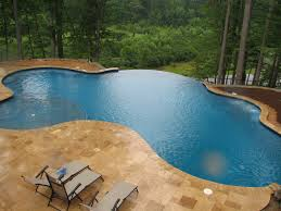 atlanta pool builder custom swimming with vanishing edge inground
