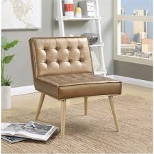 Tufted Accent Chair Ave Six Amity Sizzle Copper Fabric Tufted Accent Chair Amt51t S53