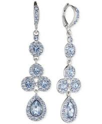 pear drop earrings givenchy silver tone blue pear drop earrings fashion