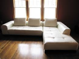 outstanding tufted sectional with white faux leather seater covers