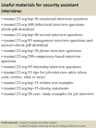 Resume For Security Job top 8 security assistant resume samples