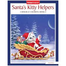santa u0027s kitty helpers holiday coloring book paperback kayomi