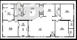 3 Bedroom 2 Bath House Plans Three Bedroom Mobile Homes L 3 Floor Plans Excellent 2 Bath Home