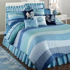 Ocean Themed Rug Calming Stripped Blue Beach Themed Comforters And Rug In Grey