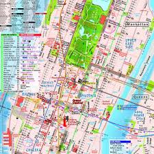 manhattan on map manhattan map laminated midtown maps pocket new york
