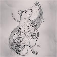 flower nice rat tattoo 2 golfian com