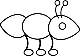 ant outline picture colouring happy colouring