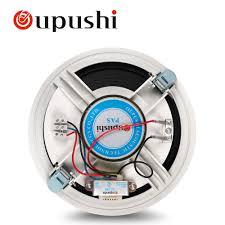 oupushi home music pa system 8 inch in ceiling speaker 10w roof