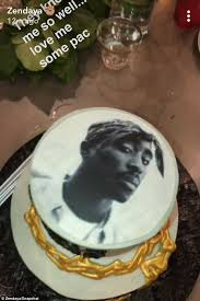 zendaya celebrates 21st birthday tupac cake daily