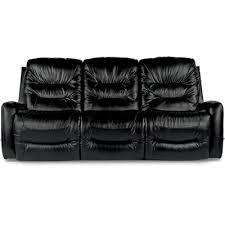 Black Reclining Sofa La Z Boy Inc Sofas Ace Reclina Way Full Reclining Sofa Black