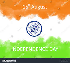 indian independence day concept background ashoka stock vector