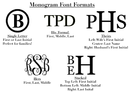 3 initial monogram fonts subtle monograms subtly southern personalized items