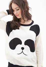panda sweater panda sweater forever 21 2000099832 panda i want