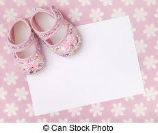 baby girl announcements stock image of new baby announcement blank card with baby girl