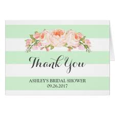 bridal shower thank you cards bridal shower thank you cards
