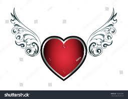 tribal tattoo vector heart wings stock vector 162557387 shutterstock