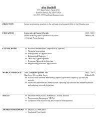 functional resume sample for an it internship susan internship