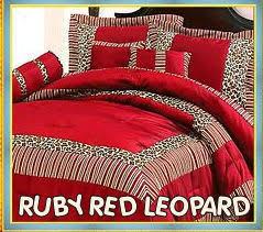 Cheetah Print Comforter Queen Red Bedding Red Leopard Print Bedding Comforter Set Animal Wild