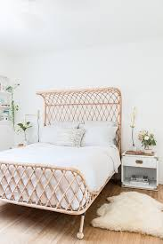 Bohemian Bed Frame Beachy Meets Boho In This California Home Rattan Bedrooms