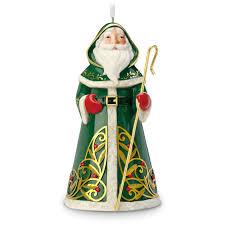 festive santa premium porcelain ornament keepsake ornaments