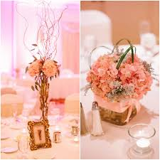 Pink And Gold Centerpieces by Wedding Reception Home Sweet Ruby