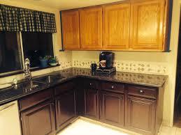 painted and stained kitchen cabinets gel stain oak cabinets before and after cabinet paint kit painted vs
