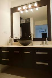 Bathroom Mirror With Lights Built In Bathroom Mirror Lighting Ideas Lighting Chic Vanity For Bathroom