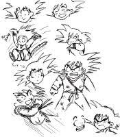 goku fighting stance by earthssaviorsongoku on deviantart