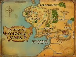 map from lord of the rings lord of the rings map middle earth major tourist