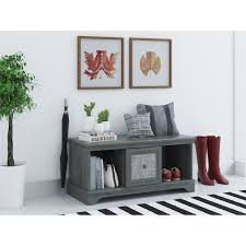 Entry Benches With Shoe Storage Fascinating Rustic Entryway Bench With Open Shelves Plus Rattan